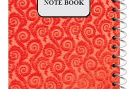 دفتر یادداشت 1/8 طلقی رنگی